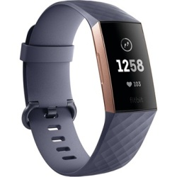 Fitbit Charge 3 Fitness Activity Tracker Rose Gold Grey