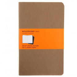 Moleskine Cahier Large Ruled Journals Buff