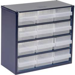 raaco 612 02 Small parts container (W x H x D) 306 x 283 x 150 mm No. of compartments 12