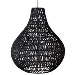 Zuiver Cable Drop Pendant Light in Twisted Paper Black
