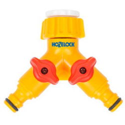 Hozelock Plastic Dual Threaded Tap Hose Pipe Connector 21 26.5mm
