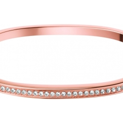Ladies Calvin Klein Rose Gold Plated Small Hook Crystal Bangle KJ06PD14010S