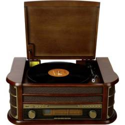 Denver MCR 50 USB turntable Wood