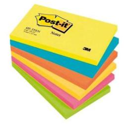 Post it Colour Notes Pad of 100 Sheets 76x127mm Energetic Palette