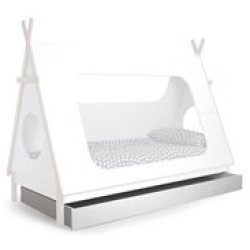 Trundle Drawer for Teepee Cabin Bed by Woood White