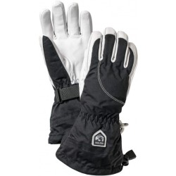 Hestra Women's Heli Ski 5 Finger Gloves size 6 black grey