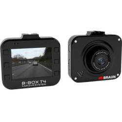 Braun Germany B Box T4 Dashcam Horizontal viewing angle (max.) 120 ° 12 V Battery Display Microphone
