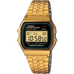 Quartz Wristwatch A159WGEA 1EF (L x W x H) 36.8 x 32.2 x 8.2 mm Gold Enclosure material Resin Material (watch strap) Stainless steel Casio