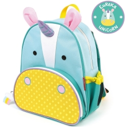Skip Hop Zoo Little Kid Backpack Eureka Unicorn Blue pink yellow