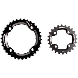 Race Face Turbine Chainring Set (11 Speed 24 34 Tooth) Black