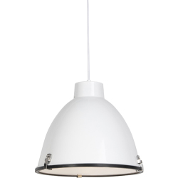 Industrial hanging lamp white 38 cm dimmable Anteros
