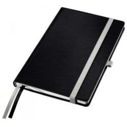 Leitz Satin Black Style Notebook A5 squared with hardcover Pack of 5x