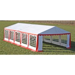 vidaXL Party Tent Top and Side Panels 10 x 5 m Red White