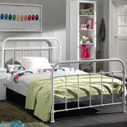 New York Small Double Kids Bed in White