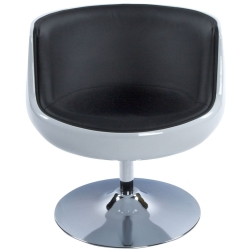 Raheen Faux Leather Chair White and Black