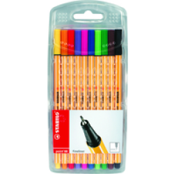 STABILO Point 88 Fineliners Pack of 10