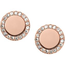 Ladies Fossil PVD rose plating FASHION EARRINGS