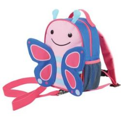 Skip Hop Zoo let Backpack and Reins Blossom Butterfly Blue pink