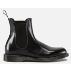 Dr. Martens Women's Flora Polished Smooth Leather Chelsea Boots Black UK 8
