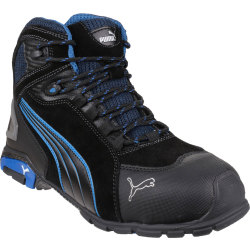 Puma Mens Safety Rio Mid Safety Boots Black Size 9