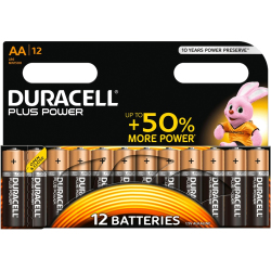 Duracell AA Cell Plus Power Battery Pack of 12