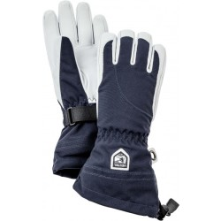 Hestra Women's Heli Ski 5 Finger Gloves size 6 black grey blue