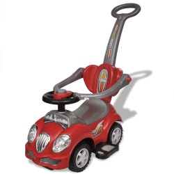 vidaXL Red Children's Ride on Car with Push Bar