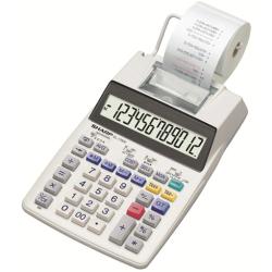 Sharp EL 1750V Calculator with built in printer White Display (digits) 12 battery powered mains powered (optional) (W x H x D) 230 x 52 x 230 mm