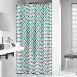 Sealskin Shower Curtain Diamonds 180 cm Aqua 235201330