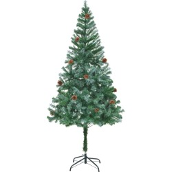 vidaXL Artificial Christmas Tree with Pinecones 180 cm