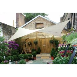 Perel Shade Sail Square 5 m Cream GSS4500
