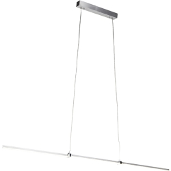 Modern hanging lamp aluminum incl. LED and dimmer Plazas