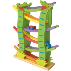 Legler Small Foot Crocodile Race Track Wooden Kid 039 s Toy (Multi colour)