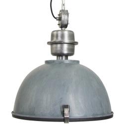 Industrial hanging lamp concrete gray with steel Gospodin