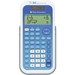 Texas Instruments TI 34 MULTIVIEW CAS calculator White Blue Display (digits) 16 solar powered battery powered (W x H x D) 80 x 19 x 158 mm
