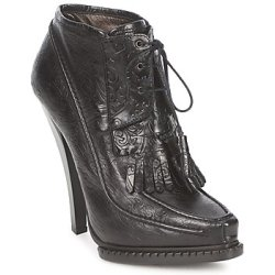 Roberto Cavalli QDS640 PZ030 women's Low Ankle Boots in Black