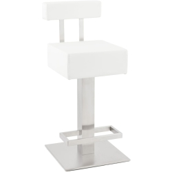 Beaumont Mini White Stainless Steel Snack Bar Stool