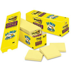 Post it Notes Recycled Tower 76x76mm Canary Yellow Pack of 16 654 1T