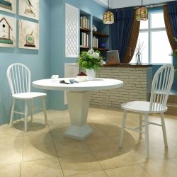 vidaXL Dining Chairs 2 pcs White Solid Rubber Wood