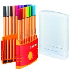 Stabilo Point 88 ColorParade Fineliner Pens Pack of 20 8820 03