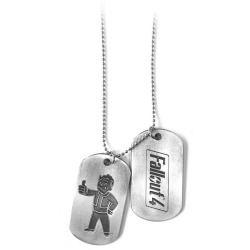 FALLOUT 4 Vault Boy Thumbs Up Dogtags Silver Metal (JE270801FOT)