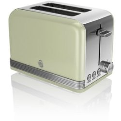 Swan ST19010GN 2 Slice Retro Style Toaster in Green Chrome
