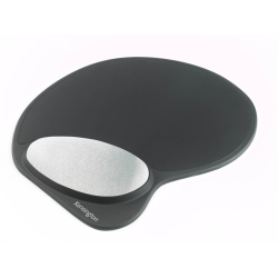 Kensington Memory Gel Mouse Pad with Integral Wrist Rest Black
