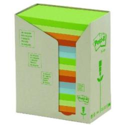 Post it Notes Recycled 76 x 127mm Pastel Rainbow Pack of 16 655 1RPT