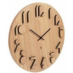 Umbra Shadow Wall Clock Natural