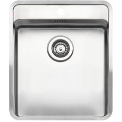 Reginox Ohio 40x40 Stainless Steel Sink Single Bowl with Tapwing and Waste Included