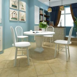 vidaXL Dining Chairs 4 pcs White Solid Wood