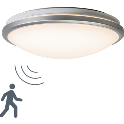 Ceiling light gray incl. LED and motion detector Captur