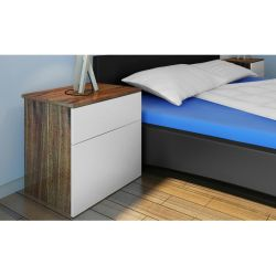 vidaXL Nightstand 2 pcs with One Drawer Brown White