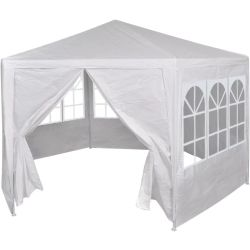 vidaXL Marquee with 6 Side Walls White 2x2 m